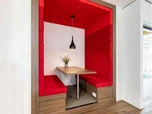 Lounge voor lunch en werk